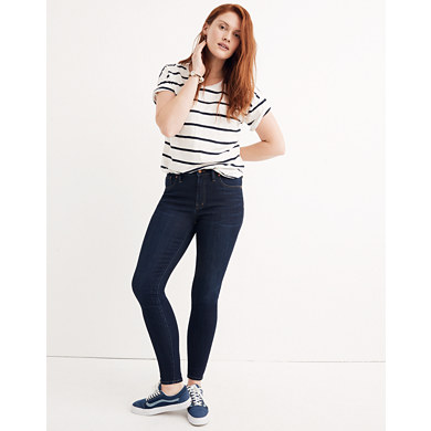 9 High-Rise Skinny Jeans in Larkspur Wash: Tencel™ Edition