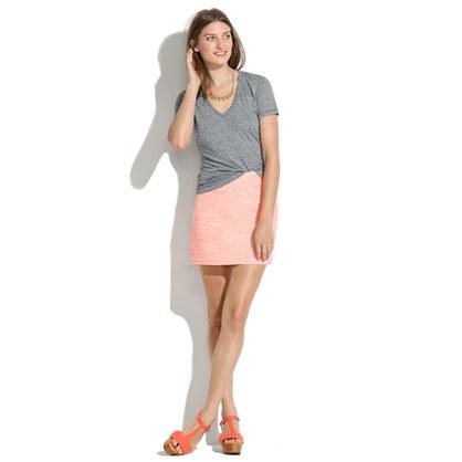 Neon Bouclé Skirt