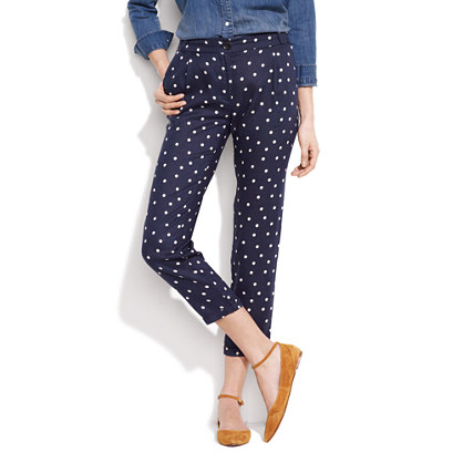 "Sess�n™ Polka-Dot ""Memory House"" Trousers"