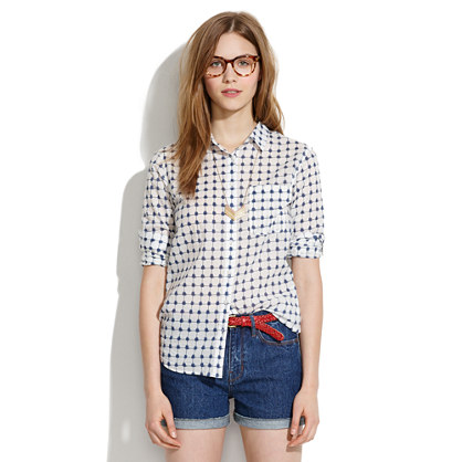Graphic Grid Boyshirt