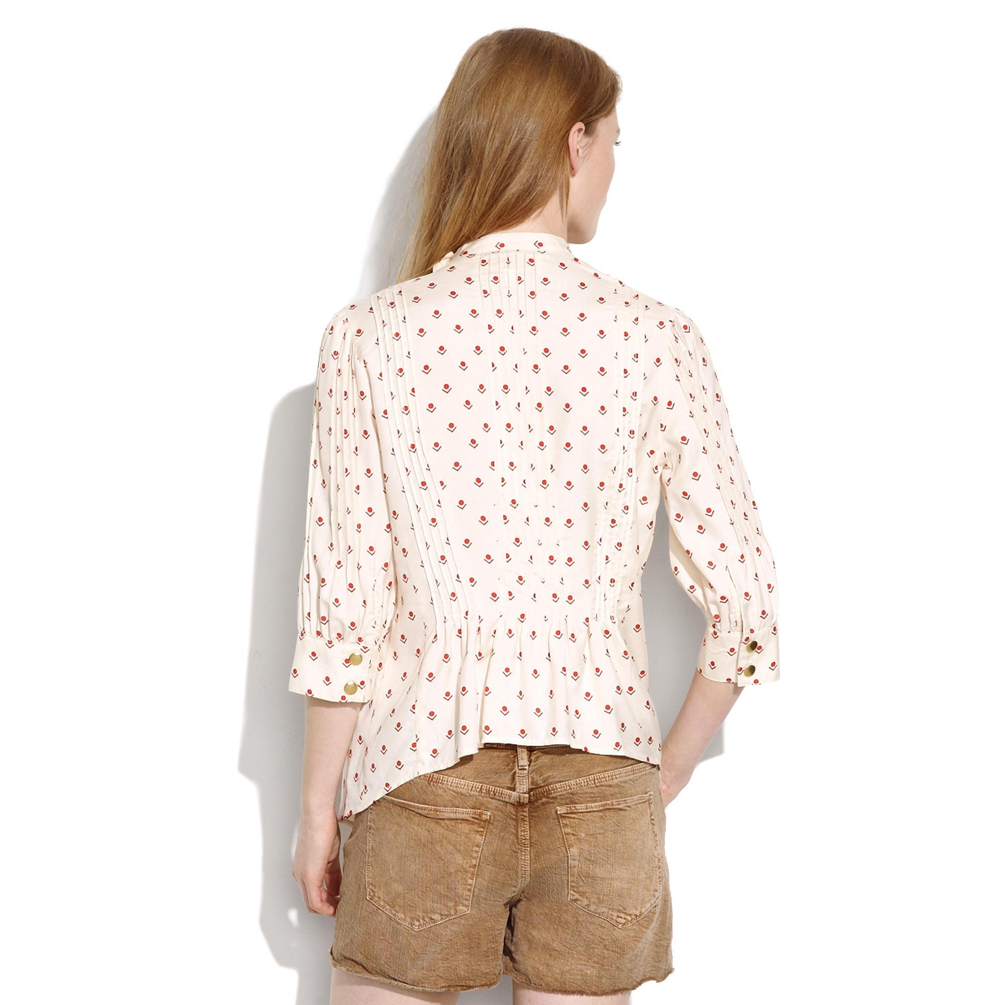 Lauren moffatt dropshot pintuck blouse blouses madewell jeuxipadfo Image collections