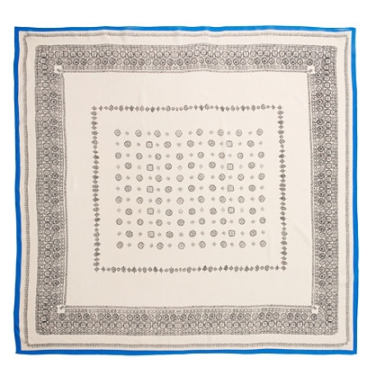 Silk Bandana-Print Scarf