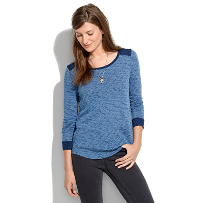 Brimfield Tee in Indigo Ink Colorblock