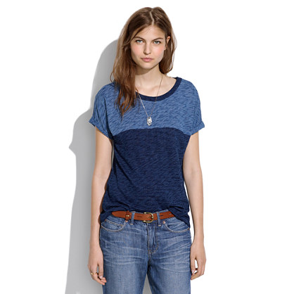 Roll-Sleeve Indigo Ink Tee