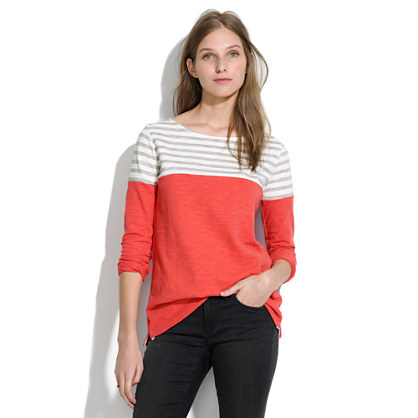 Stripeblock Cotton Pullover
