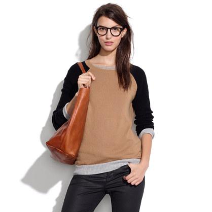 Wafflestitch Colorblock Sweater