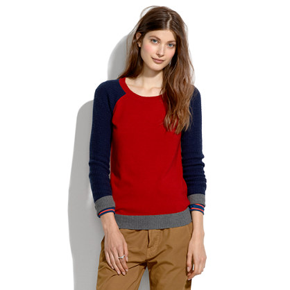 Wafflestitch Colorblock Sweater