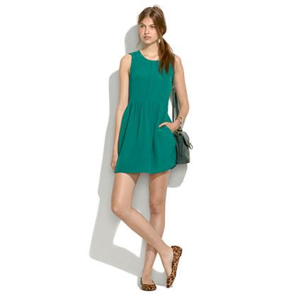 Shirred Silk Dress