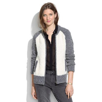 Bouclé Varsity Jacket