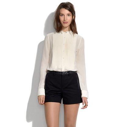 Leather Trim Shorts