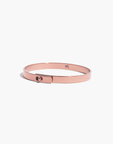 Glider Bangle Bracelet in matte rose gold image 1