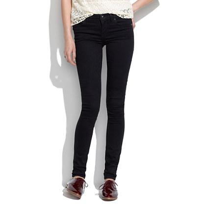 """8"""" Skinny Jeans in Black Frost"""