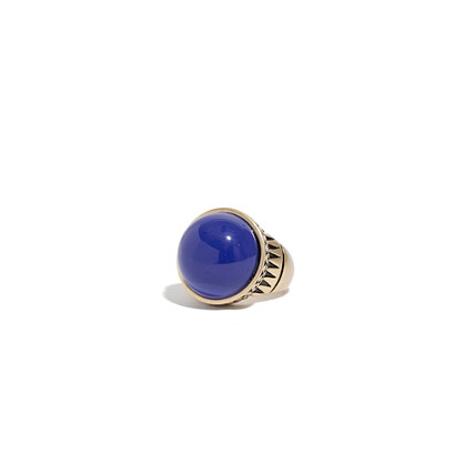 Carved Cobalt Ring