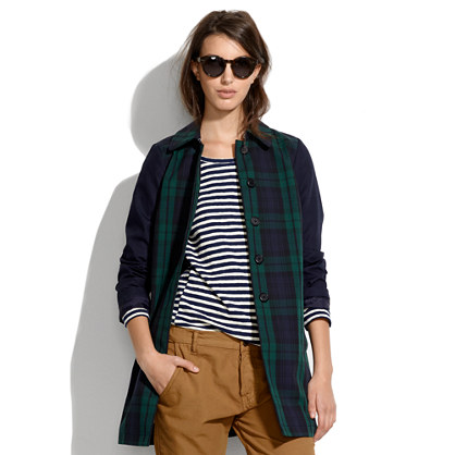 All-Weather Plaid Coat