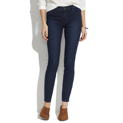 High Riser Skinny Skinny Jeans in Deep Blue Wash