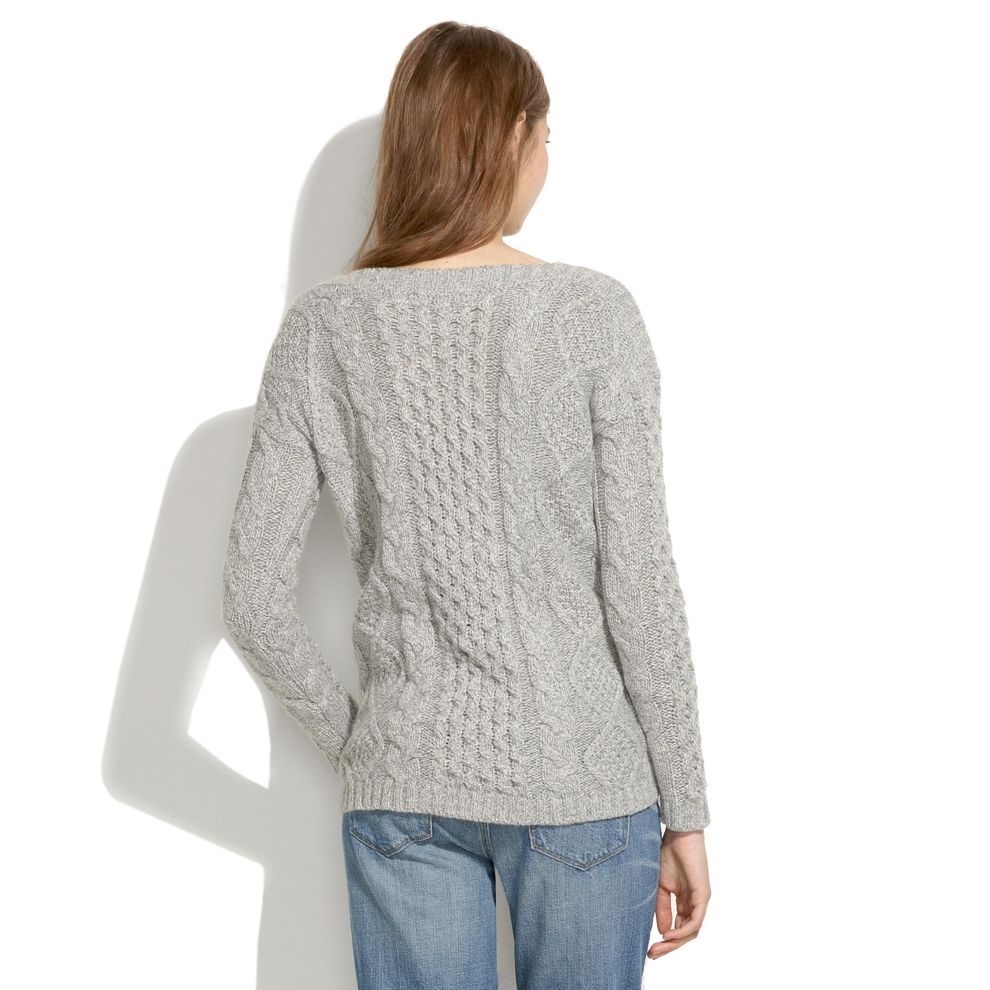 Boatneck cableknit sweater sale madewell bankloansurffo Images