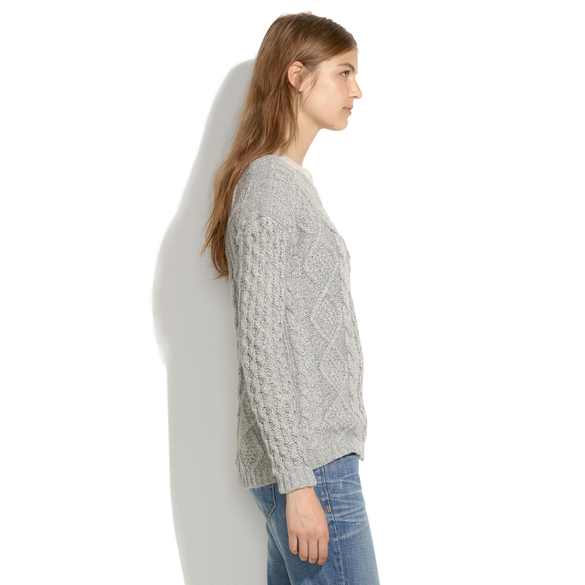 Boatneck cableknit sweater pullovers madewell bankloansurffo Images
