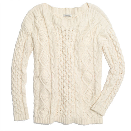 Boatneck Cableknit Sweater