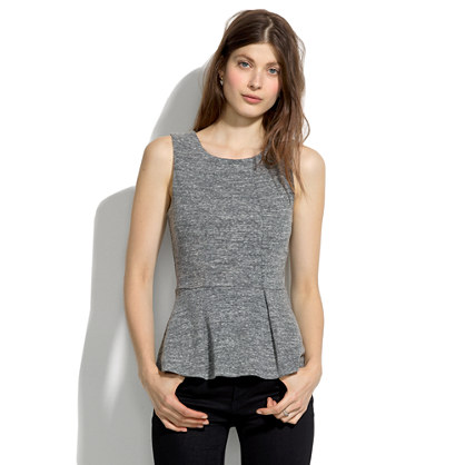 Sleeveless Sweatshirt Peplum Top