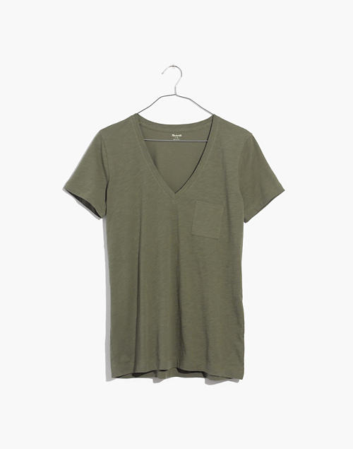 63eacb45aaaf Whisper Cotton V-Neck Pocket Tee in null image 4