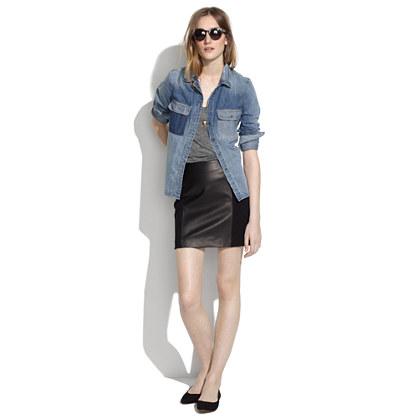 leather panel skirt skirts madewell