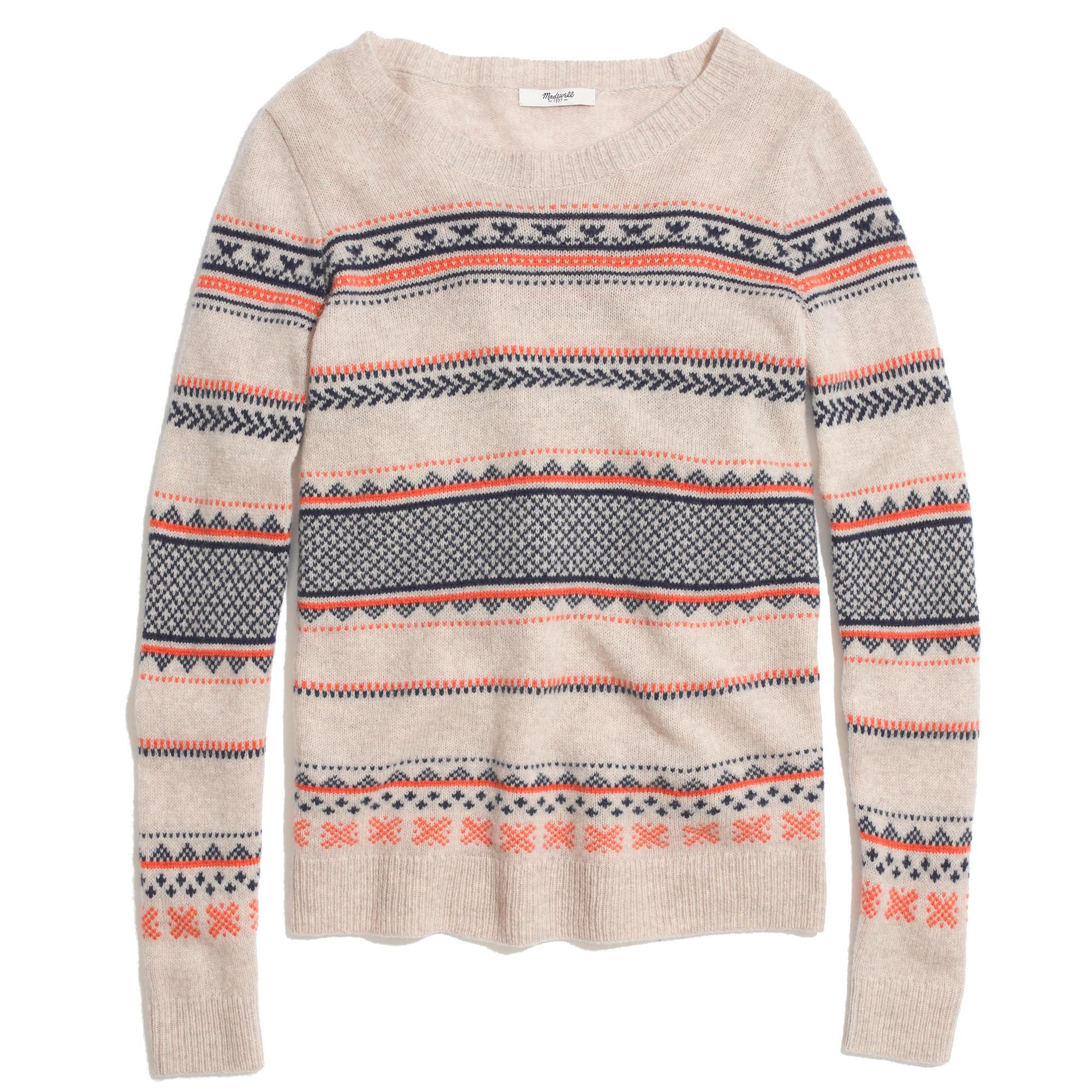 Fair Isle Striped Sweater : shopmadewell pullovers | Madewell