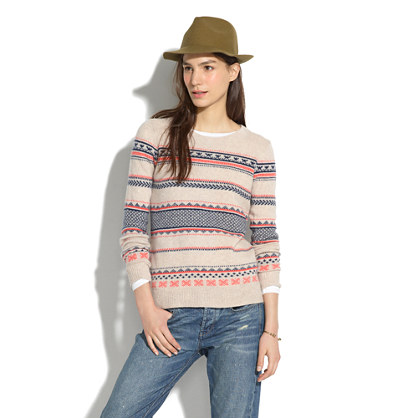 Fair Isle Striped Sweater : pullovers | Madewell