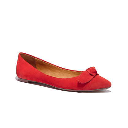 The French Knot Pointy Skimmer in Suede