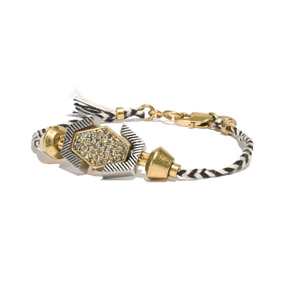 Pavé Shapes Friendship Bracelet