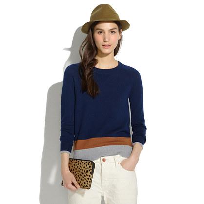 Merino Sweatshirt in Colorblock