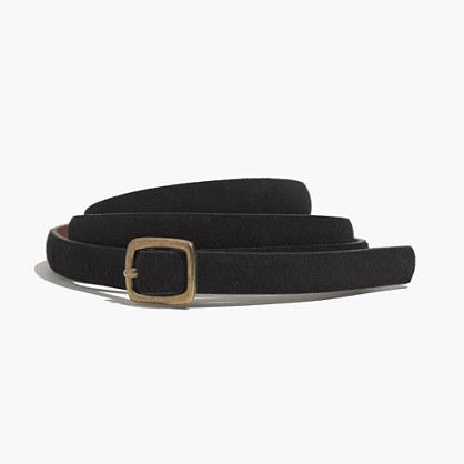 Suede Skinny Belt