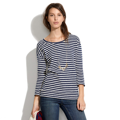 Structured Striped Pullover