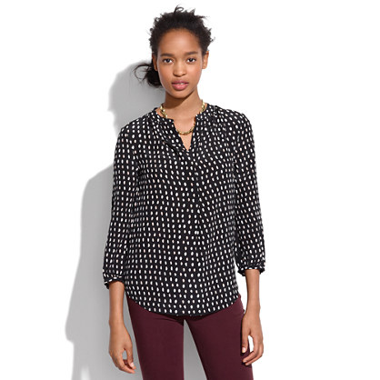 Silk Poet Blouse in Paintdot