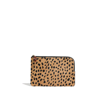 The Zip Pochette in Calf Hair