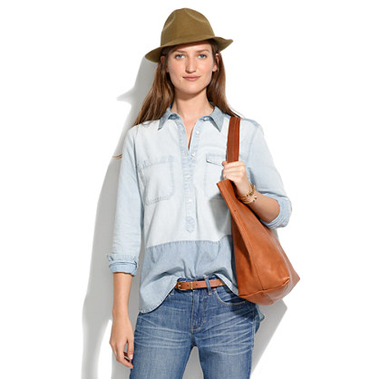 Colorblock Chambray Popover