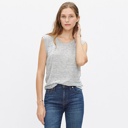 Modern Linen Heathered Muscle Tee