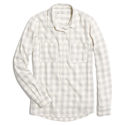 Flannel Popover in Silver Buffalo