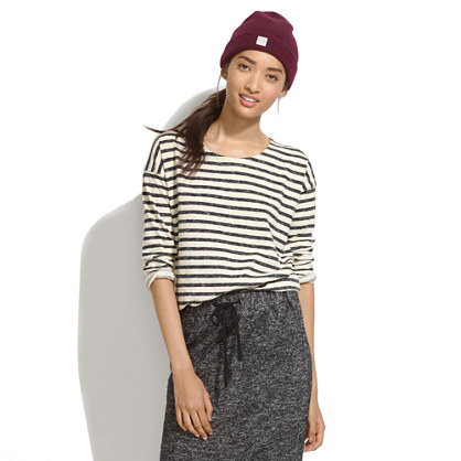 Cozy Slub Tee in Stripe