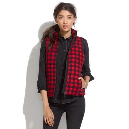 fireside Vest in Buffalo Plaid