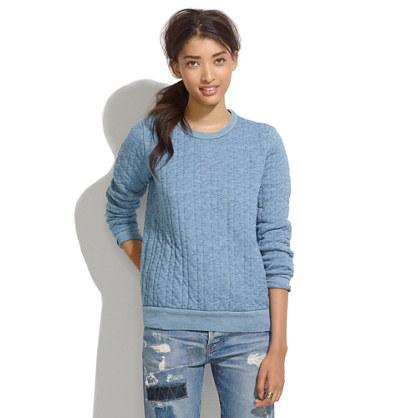 Indigo Ink Quilted Sweatshirt