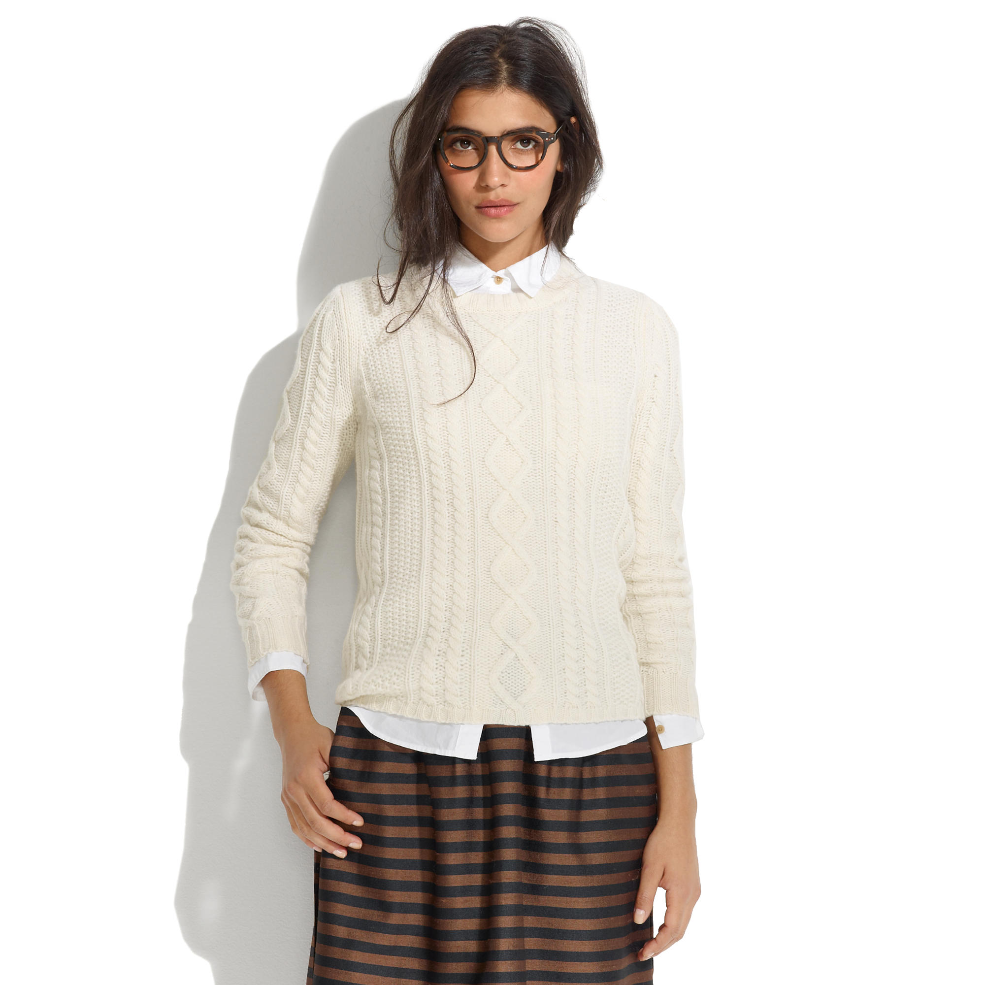 Cableknit Sweater : pullovers | Madewell