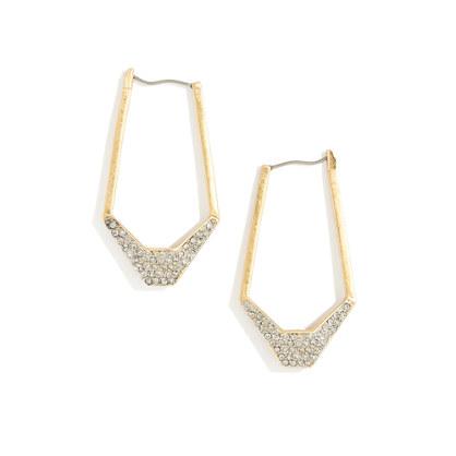 Pavé Frame Earrings