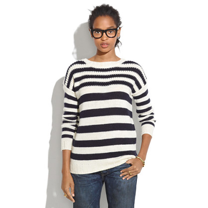 Striped Multistitch Sweater