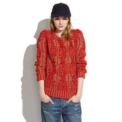 Plaited Cableknit Sweater