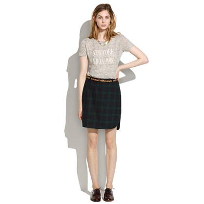 Shirttail Skirt in Dark Plaid