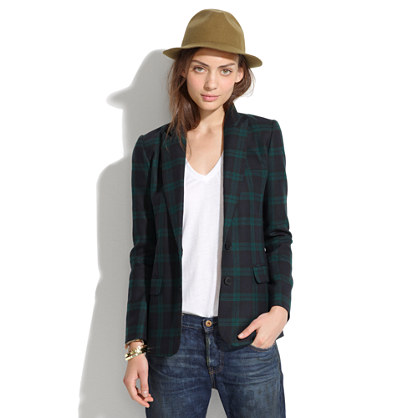 Dark Plaid Blazer