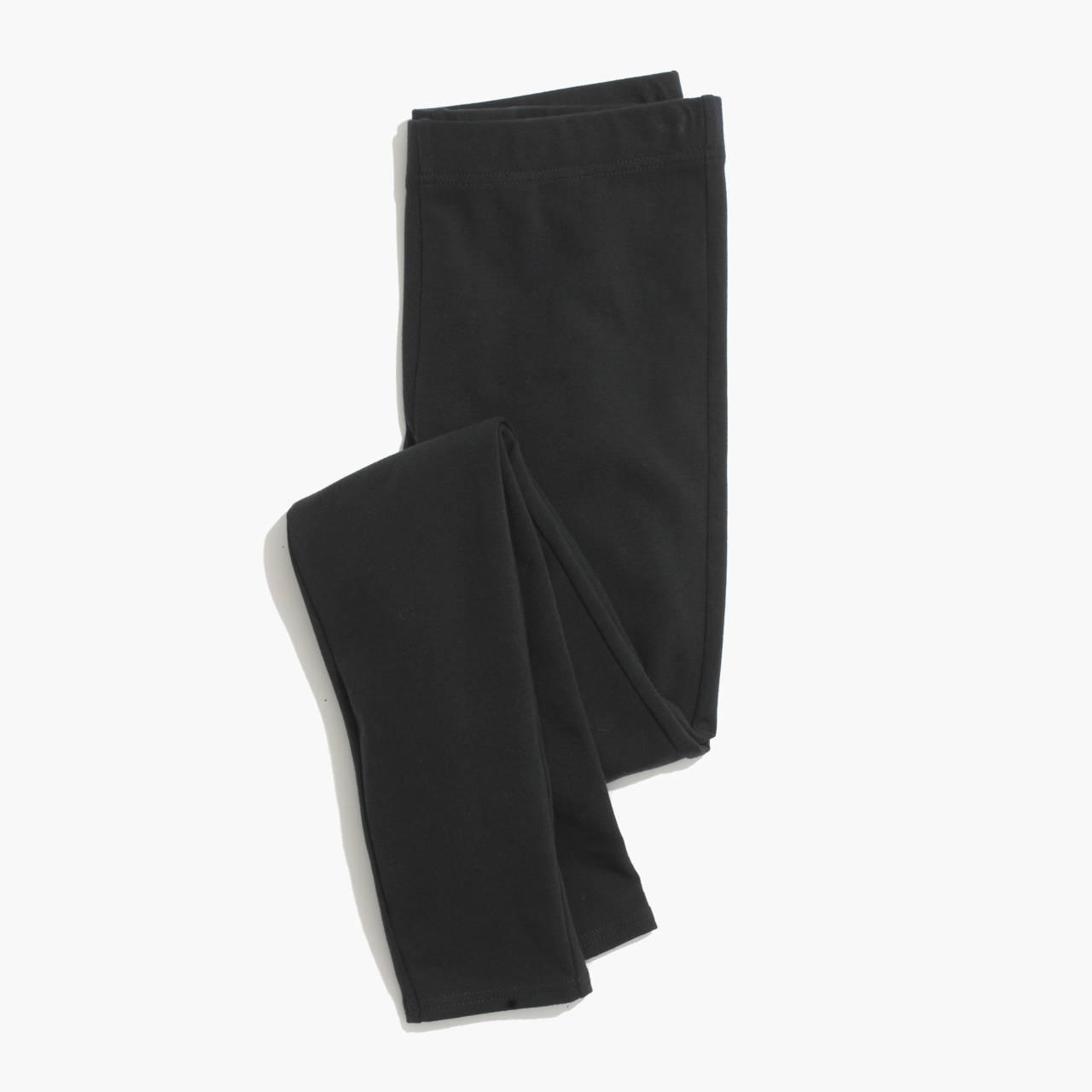 Knit Leggings in true black image 2