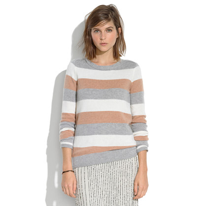Tri-Striped Gamine Sweater