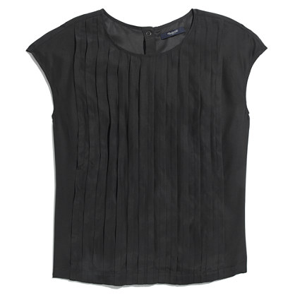 Silk Pleated Tee