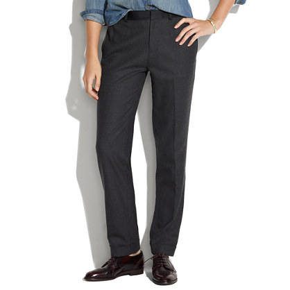 Tapered Twill Tuxedo Trousers